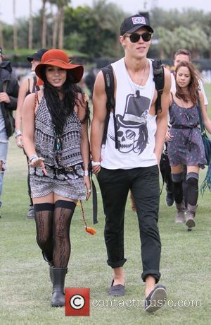 Vanessa Hudgens and boyfriend Austin Butler Celebrities at the 2012 Coachella Valley Music and Arts Festival - Week 1 Day...
