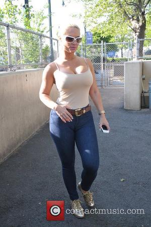Reality star from 'Ice Loves Coco' Coco Austin  seen at a dog park in Chelsea Piers New York City,...