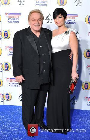 Freddie Starr and guest British Comedy Awards held at the Fountain Studios - Arrivals. London, England - 16.12.11