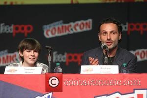 Chandler Riggs and Andrew Lincoln