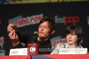 Norman Reedus and Chandler Riggs