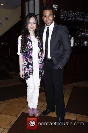 Anna Maria Perez de Tagle and Corbin Bleu  attending the afterparty to celebrate new cast member Corbin Bleu's first...