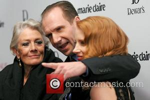 Vanessa Redgrave, Ralph Fiennes and Jessica Chastain,  at the New York premiere of 'Coriolanus' shown at the Paris Theater...