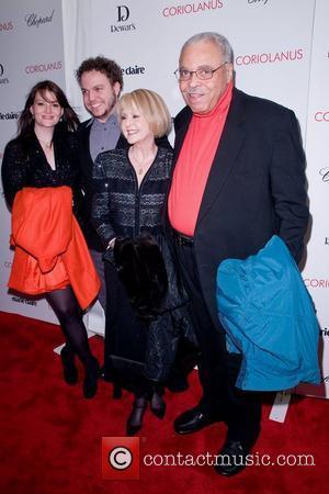 James Earl Jones ,  at the New York premiere of 'Coriolanus' shown at the Paris Theater - Red Carpet...