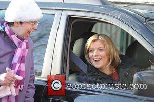 Jane Danson 'Coronation Street' cast outside Granada Studios Manchester, England - 19.01.12