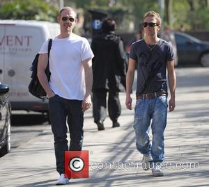 Ben Price and Jack P Shepherd  'Coronation Street' cast outside Granada Studios Manchester, England - 26.03.12