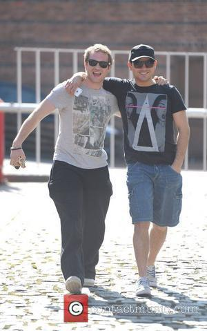 Ryan Thomas and Chris Fountain  'Coronation Street' cast outside Granada Studios Manchester, England - 26.03.12