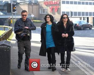 Chris Gascoyne, Alison King and Kym Marsh
