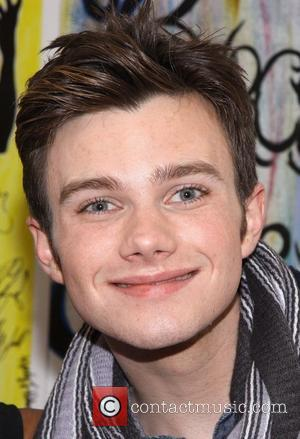 Chris Colfer from the TV show 'Glee' backstage after the performance of 'Cotton Club Parade' at NY City Center New...