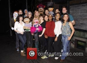 Sara Bareilles and Jennifer Nettles  Country music stars visit the cast of the Tony Award winning musical 'Avenue Q'...