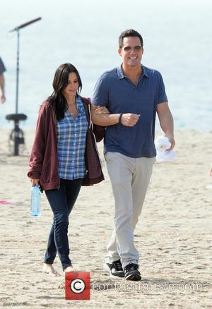 Courteney Cox and Brian Van Holt film scenes for 'Cougar Town' on loaction on  Venice Beach  Featuring: Courteney...