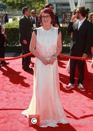 Megan Mullally 2012 Creative Arts Emmy Awards, held at Nokia Theatre - Arrivals Los Angeles, California - 15.09.12