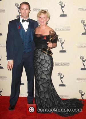 Garret Dillahunt, Martha Plimpton   2012 Creative Arts Emmy Awards held at the Nokia Theatre - Press Room Los...