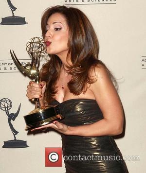 Maria Canals-Barrera   2012 Creative Arts Emmy Awards held at the Nokia Theatre - Press Room Los Angeles, California...