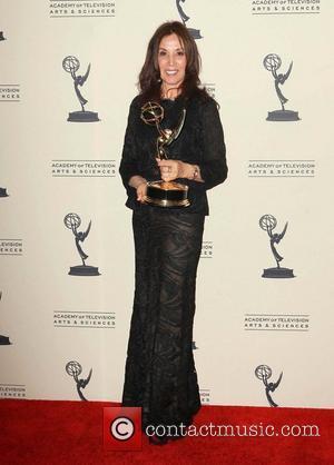 Olivia Harrison   2012 Creative Arts Emmy Awards held at the Nokia Theatre - Press Room Los Angeles, California...