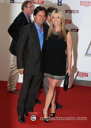Tina Hobley and husband The UK's Creative Industries Reception supported by the Foundation Forum at the Royal Academy of Arts...