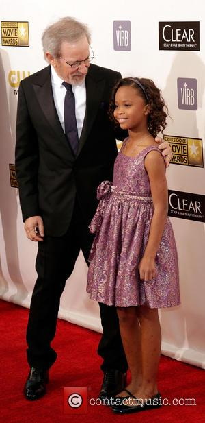 Steven Spielberg; QuvenzhanŽ Wallis 18th Annual Critics' Choice Movie Awards held at Barker Hangar  Featuring: Steven Spielberg, QuvenzhanŽ Wallis...