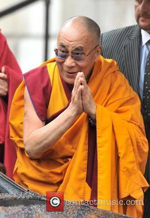 His Holiness the Dalai Lama arrives at St Paul's Cathedral to receive the Templeton Prize. London, England - 14.05.12