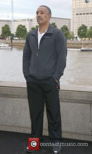 Daley Thompson poses in front of the EDF London Eye to promote the 'Energy Of The Nation' campaign. The initiative...