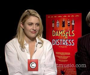Greta Gerwig Celebrities promote the new movie 'Damsels In Distress' during an interview USA - 15.04.12