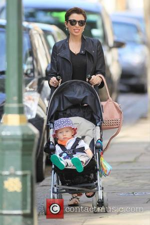 Dannii Minogue and her son Ethan out and about in Chelsea London, England - 15.09.12
