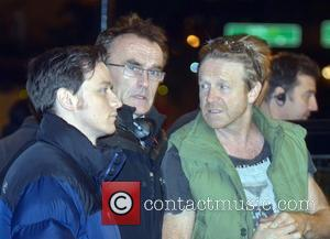 James McAvoy and Danny Boyle on the set of 'Trance' in London London, England - 17.10.12