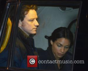 James McAvoy and Rosario Dawson on the set of 'Trance' in London London, England - 17.10.12