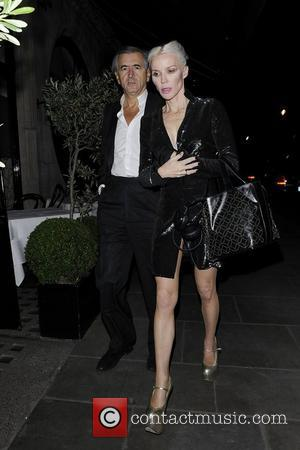 Daphne Guinness out and about wearing gold high heels London, England - 13.06.12
