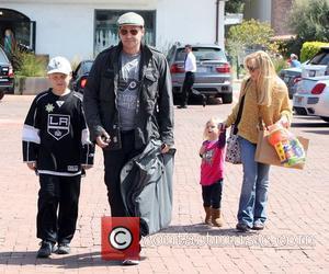 David Boreanaz and his family arrive at the John Varvatos clothing store in Malibu Los Angeles, California - 24.03.12