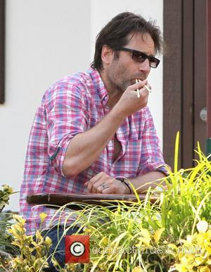 David Duchovny visits a Sushi restaurant for lunch in Malibu ngeles, California - 03.06.12