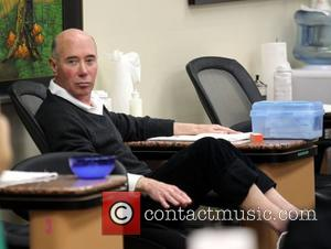 David Geffen gets his nails and feet done at a Beverly Hills salon Los Angeles, California - 10.11.12