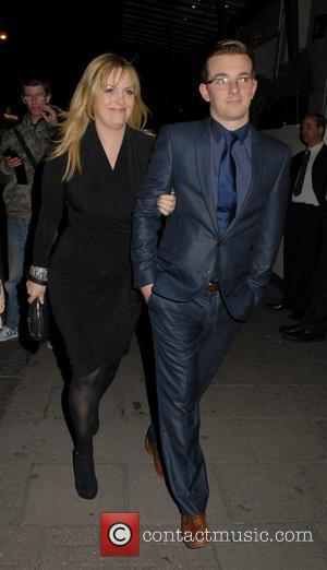Jo Joyner  David Gest and Patsy Palmer joint birthday party at the Grand Connaught Rooms to raise money for...
