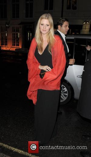 Lara Stone arriving at Claridge's Hotel London, England - 21.10.12
