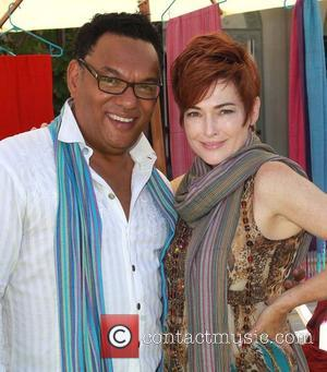 Carolyn Hennesy and guest  Debbie Durkin's 6th Annual Eco Emmys Gifting Suite held at a private residence in Hancock...