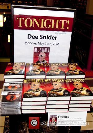 Dee Snider signs copies of his new book 'Shut Up and Give Me the Mic' at Barnes and Noble Chicago...