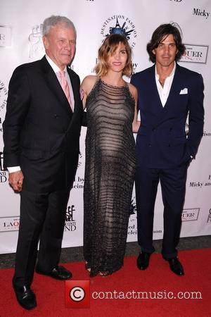 Tom Brokaw, R, L, Nacho Figueras and Delfina Blaquier