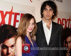 Lucy Mcintosh and Nick Simmons attends the season 6 DVD release party of 'Dexter' held at Tropicana Bar inside The...
