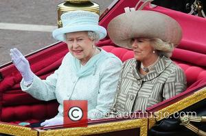 Queen Elizabeth II, Prince Charles, Prince of Wales and Camilla, Duchess of Cornwall  The Queen's Diamond Jubilee Procession along...
