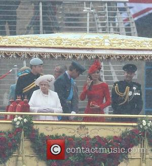 Queen Elizabeth Ii, Kate Middleton, Prince Harry and Prince William