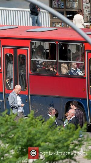 Bruce Willis shooting a scene on the film set of 'A Good Day to Die Hard' Hungary, Budapest - 19.05.12