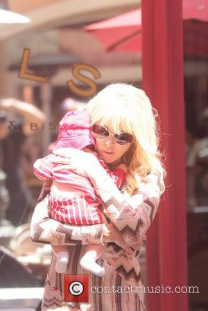 Dina Lohan  seen having lunch with friends at The Grove Los Angeles, California - 16.05.12
