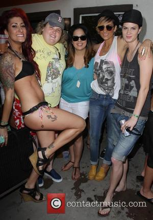 Dru Rooks, Fortune Feimster, Rose Garcia, Romi Klinger, Kelsey Grace Chavarria Dinah Shore 'Club Skirt' 2012 Palm Springs, California -...