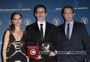 Jean Dujardin, Michel Hazanavicius and Berenice Bejo  64th Annual Directors Guild of America Awards held at The Grand Ballroom...