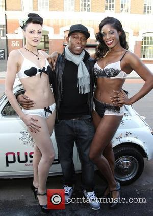 Dizzee Rascal and models attend the launch of Playful Promises in Box Park Shoreditch London, England - 03.12.11  This...