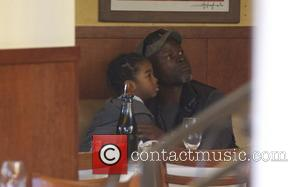 Djimon Hounsou and his son Kenzo Hounsou  seen shopping at The Grove Los Angeles, California- 19.12.12