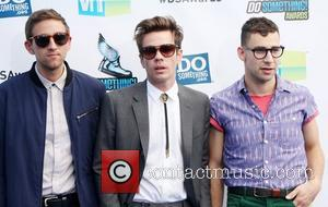 Andrew Dost, Nate Ruess and Jack Antonoff of the band Fun DoSomething.org and VH1's 2012 Do Something Awards 2012 at...