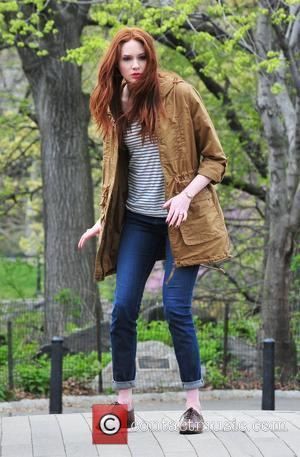 Karen Gillan on location in Central Park, filming another episode of 'Doctor Who'  New York City, USA - 11.04.12