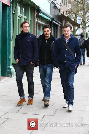 Dominic Cooper out and about with friends in Primrose Hill London, England - 16.02.12