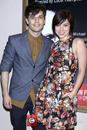 Andy Mientus and Krysta Rodriguez  Opening night of the MCC production of 'Don't Go Gentle' at the Lucille Lortel...