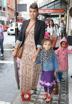Javine Hylton and daughter Angel Celebrity & Press Performance of Nickelodeon's Dora the Explorer at the Apollo Theatre - arrivals...